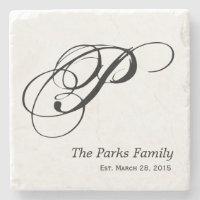 Monogram Family Coaster Set
