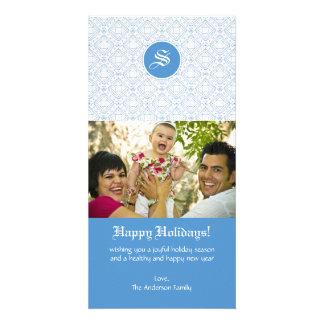 Monogram Family Photo Greeting Photo Card