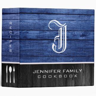 Monogram Family Recipes Wood Look #36 Binder