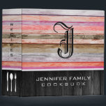"""Monogram Family Recipes Wood Look #8 3 Ring Binder<br><div class=""""desc"""">Monogram Family Recipes Wood Look. Please Select Customize. Remove or change Information prior to purchase. Design is available on other products.</div>"""