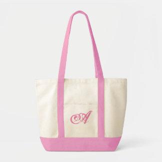 Monogram fancy two tone tote. Customize Monogram Tote Bag