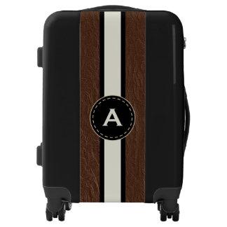 Monogram Faux Leather Luggage