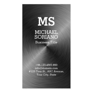 Monogram Faux Metal Background Business Card Templates