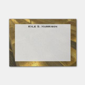 Monogram Feng Shui Gold Bullion Wealth Post-it® Notes