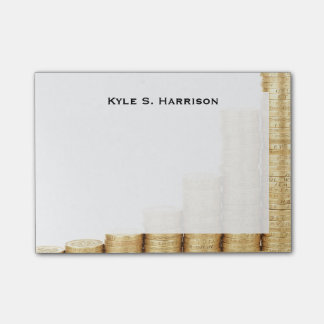 Monogram Feng Shui Increasing Wealth Gold Coins Post-it® Notes