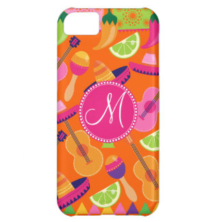 Monogram Fiesta Party Sombrero Cactus Limes Pepper iPhone 5C Case