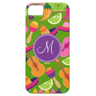 Monogram Fiesta Party Sombrero Cactus Limes Pepper iPhone SE/5/5s Case