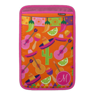Monogram Fiesta Party Sombrero Cactus Limes Pepper Sleeve For MacBook Air