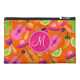 Monogram Fiesta Party Sombrero Cactus Limes Pepper Travel Accessory Bag
