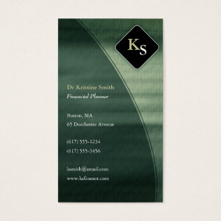 Monogram  Financial Planner - Business Card