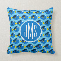 Monogram Finding Dory Pattern Throw Pillow