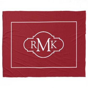 monogram_bouquet Monogram Fleece Blanket