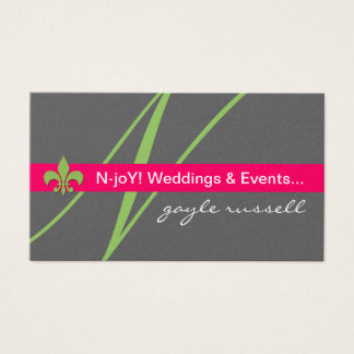 Monogram fleur de lis event planne... - Customized Business Card
