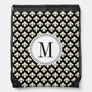 Monogram Fleur De Lis Drawstring Bag