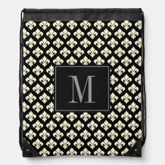 Monogram Fleur De Lis Drawstring Backpack