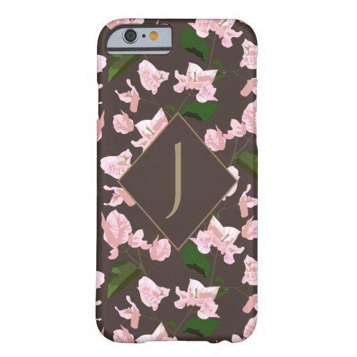 Monogram Floral Pattern Print iPhone Case