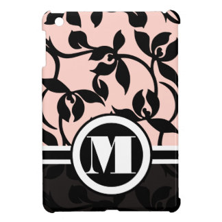 Monogram Floral Peach Damask iPad Mini Case