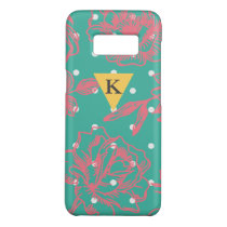 Monogram Floral Polka Dot Case-Mate Samsung Galaxy S8 Case