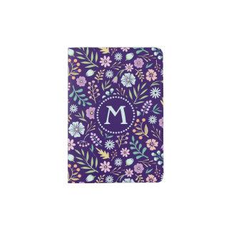 Monogram Floral Whimsical Boho Passport Holder