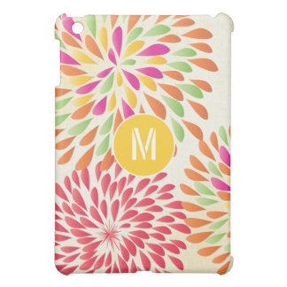 Monogram Floral Yellow Orange iPad Mini Case