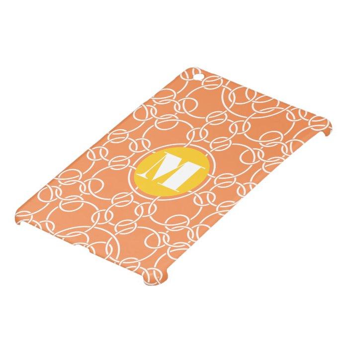 Monogram Floral Yellow Peach Damask iPad Mini Case
