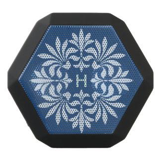 Monogram Flourish Ornate Vintage Decorative Black Bluetooth Speaker