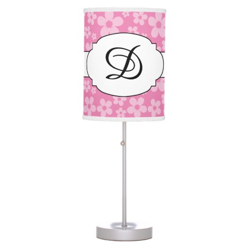 Monogram Flower Pattern Print Lamp Any color!