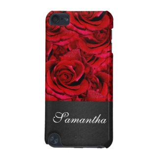 Monogram flower red rose floral iPod touch 5G covers