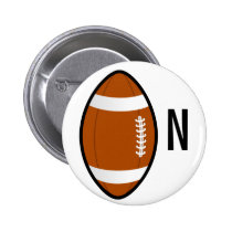 monogram football button
