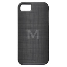 Monogram For Men With Linen Look Iphone Se/5/5s Case at Zazzle