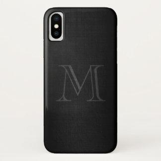 Monogram for Men with Linen Look iPhone X Case