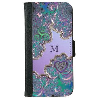 Monogram Fractal Celtic Heart iPhone 6 Wallet iPhone 6 Wallet Case