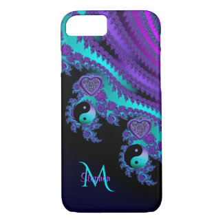 Monogram Fractal Yin-Yang Celtic Heart iPhone 7 Case