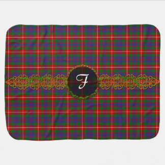 Monogram Fraser Of Lovat Tartan Receiving Blanket