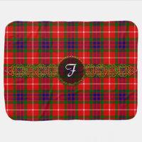 Monogram Fraser Tartan Swaddle Blanket