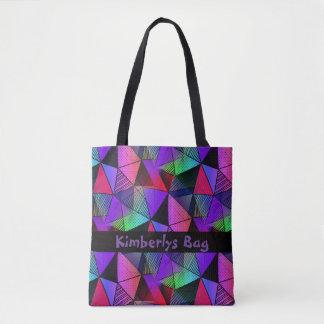 Monogram Fresh Modern Triangles Tote Bag