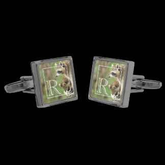 Monogram Friends & Blessings Raccoon Cufflinks