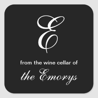 Monogram From the Wine Cellar of Square Labels