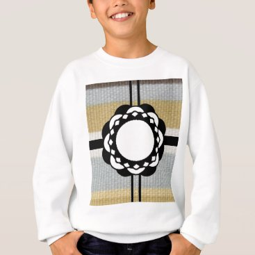 Beach Themed Monogram Funky Blue Cloth Pattern Sweatshirt