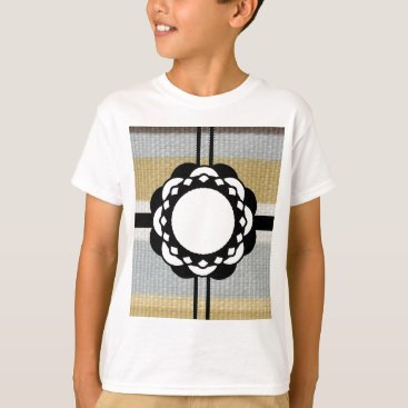 Beach Themed Monogram Funky Blue Cloth Pattern T-Shirt