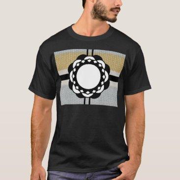 Beach Themed Monogram Funky Blue Cloth Pattern T-Shirt