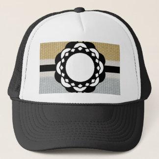 Monogram Funky Blue Cloth Pattern Trucker Hat