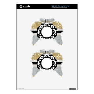 Monogram Funky Blue Cloth Pattern Xbox 360 Controller Skin