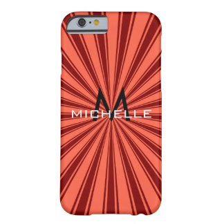 Monogram Funky Sun Rays Retro Stripes #2 Barely There iPhone 6 Case
