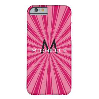 Monogram Funky Sun Rays Retro Stripes Barely There iPhone 6 Case