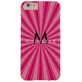 Monogram Funky Sun Rays Retro Stripes Barely There iPhone 6 Plus Case