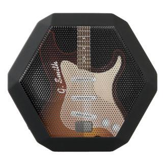 Monogram. Funny Electric Guitar. Black Bluetooth Speaker