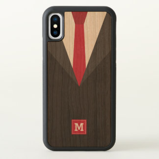 Monogram. Funny. Men's Black Tie Formal. iPhone X Case