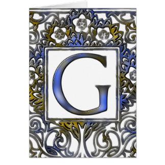 Monogram G Card