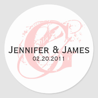 Monogram G Save the Date Wedding Sticker